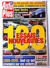 AUTO PLUS du 16/10/2001; 100 Essais Nouveautés/ Opel Vectra/ Hit Assureurs