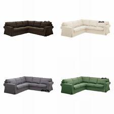 IKEA EKTORP Corner Sofa SLIPCOVER 2+2 Cover SVANBY GRAY BROWN BEIGE GREEN Linen