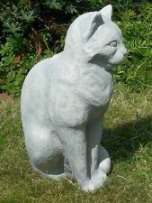 Figur Katze H 31 cm Tierfigur für Garten und Innenbereich aus Beton