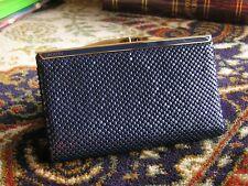Oroton navy blue purse / wallet - navy blue mesh gold trim mesh, VGC