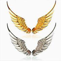1Pair Car Emblem Badge Decal 3D Metal Angels Wings  Auto Decoration Logo Sticker