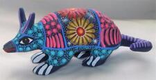 Ceramic Clay Armadillo Figurine Hand-painted Mexican Folk Art Neat Gift Idea A10
