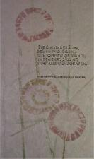 Marlene REIDEL (1923-2014)  illustriertes handschriftliches Gedicht - UNIKAT!