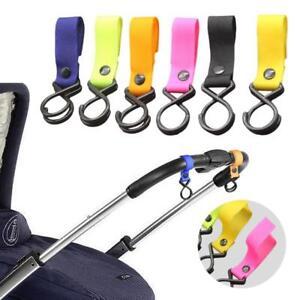 Buggy Clip Stroller Side Hook Pram Pushchair Baby Handle Shopping Bag Plastic