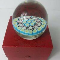 """Vintage Millefiori Paperweight Art Glass 3"""" Murano?"""
