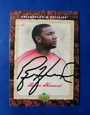 2007 Upper Deck (Phillies Team Set Card #17) RYAN HOWARD *On Card Autograph* WOW