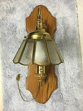 Du Vonn Collection Solid Brass And Oak Wall Light Fixture