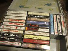 Cassette Carrying Case + 24  rock CASSETTES  Hard Shell Plastic Case Handle  # 9