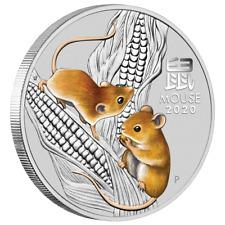 Australien 50 Cents 2020 Jahr der Maus | Mouse (1.) Lunar III. 1/2 Oz Silber ST