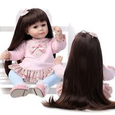 19'' 48cm Rapunzel Poupée Reborn Bébé Réaliste Fille Cheveux Longue Baby Girl