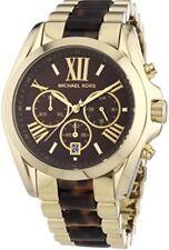 MK Michael Kors Bradshaw Gold Brown Tortoise Women's Watch Great Condition!