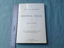 VTG BOOK 1977 1894 INDUSTRIAL ADVANTAGES OF HOUSTON TEXAS ENVIRONS CITY BUSINESS