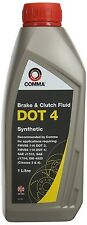 Comma 1L DOT4 Brake & Clutch Fluid 1 Litre DOT 4 Synthetic Hydraulic Systems