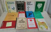 Lot of 12 Community, Civic, Church Spiral Cookbooks Various Areas of Country