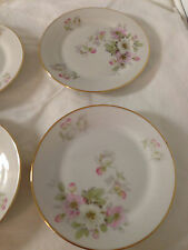 "3 APPLE BLOSSOM 246 - 6"" DESSERT PLATE TIRSCHENREUTH PASCO  BAVARIA GERMANY"