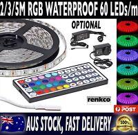 2M/3M/5M RGB 5050 SMD 60 LEDs/m Waterproof 12V Led Strip Light + 44 Key Remote