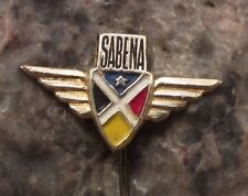 1950s Sabena Belgian National Carrier Airlines Wings Aviation Airliner Pin Badge