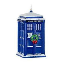 "Doctor WHO Licensed 4.5"" WREATH  & Snow TARDIS Holiday ORNAMENT Christmas Adler"