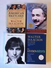 Lot 4 Walter Isaacson Books (PB) Steve Jobs, Einstein, Innovators, American