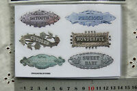 SWEET BABY Milestone Tag Stickers x 6 per pack - C89 Sweet Baby Collection