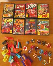 Marvel X-Men Pocket Comic Playsets Lot of 8 Toy Biz Complete Set? figures WOWEE!