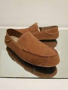 """UGG Mens Leather Brown Upshaw UK Size 10 """"NEXT DAY DELIVERY AVAILABLE"""""""