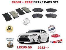 FOR LEXUS GS250 GS300H GS450H 2012-> NEW FRONT + REAR BRAKE DISC PADS SET