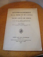 Partition Accompagnements Messe et Office Sacré Coeur Enfant Jésus Potiron 1930