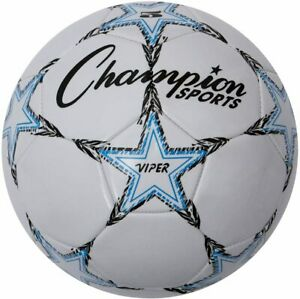 Champion Viper Official Soft Touch, 4-Ply Cover Soccer Ball, Size 5
