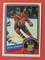 1984-85 O-Pee-Chee OPC Chris Chelios RC # 259, Montreal Canadiens, Near Mint