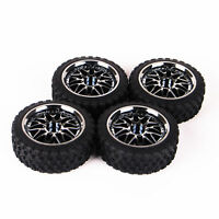 4Pcs Rally Ruber On road Tires Wheel Rim 12mm Hex For 1:10 HPI HSP Racing RC Car