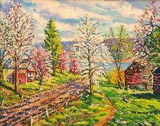 FINE ART PENNSYLVANIA IMPRESSIONIST BRADLEY M BOYER SIGNED OIL PAINTING