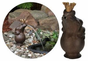 Wasserspeier Froschkönig mit Pumpe Springbrunnen Gartenfigur Teich Wasserspiel