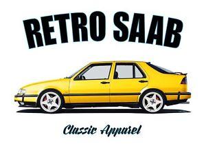 SAAB 9000 t-shirt. RETRO SAAB. CLASSIC CAR. SWEDISH. MODIFIED.