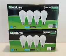 8 Maxlite LES Bulbs15W Daylight 5000K A19 100W Replacement Dimmable (2) 4 Packs