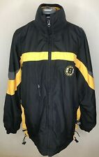 M MENS BRUINS JACKET,CCM NHL CENTER ICE HOCKEY AUTHENTIC OFFICIAL HOOD BOSTON