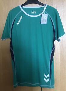 Hummel Play Dry Green T Shirt Sports Or Casual Size Medium BNWT