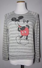 Juniors gray MICKEY MOUSE DISNEY sweater striped thin knit long sleeve M 7/9