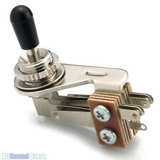 Right Angle 3-Way Toggle Switch for 3 Pickup Guitars - Made in Japan - Nickel