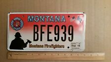 License Plate, Montana, Firefighters, BFE 939
