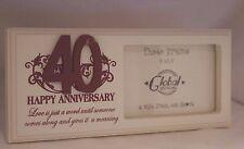 40th Wedding Anniversary Keepsake Photo Frame #f0750