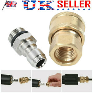 Pressure Washer Jet Wash Quick Release Thread Connector Fittings For Water Torch