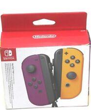 Nintendo Switch Joy-Con Pair, Neon Purple and Neon Orange NEW SLIGHT DENT ON BOX