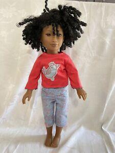 "Karito Kids Doll for Kids Give Lulu from Kenya 22"" African American Black Doll"