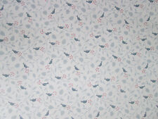 1980s Vinyl Coated Wallpaper Roll Birds & Vines Prepasted Imperial Wallcoverings