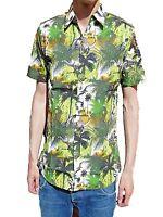 NEW retro vtg 50s indie SHIRT DINOSAUR 60s s m l xl Hawaiian indie Beach Green