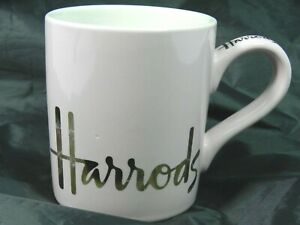 Harrods London Shop Cup Mug Pink and Gold Collectible