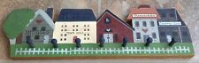 Vintage Folk Art Hand Painted Main St Usa Wall Coat Rack Prairie Pastimes Ks