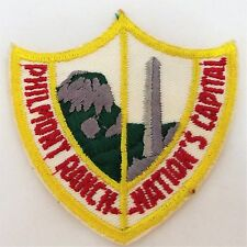 Boy Scout Patch PHILMONT RANCH - NATIONS CAPITAL Yellow Cimarron New Mexico