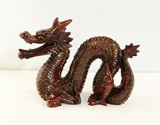 1 pc of Fengshui Dragon Statue Made of Resin in Dark Red Color